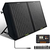 ECO-WORTHY 60W Foldable Solar Panel Charger for Portable Power Station & RV Battery, Solar Charger for Jackery/Roackpals Gene