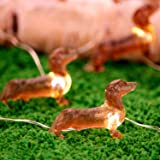 Impress Life Pet Theme Decorative String Lights, 10ft 30 LED Dachshund Dog Twinkle Lights, USB Battery Operated with Remote f