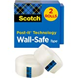 Scotch Wall-Safe Tape.75 in x 800 in, 2 Pack, Boxed Tape for use with Dispenser (813S2)