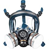 KISCHERS Reusable Full Face Respirator Large Against Dust/Organic Vapors/Smells/Fumes/Sawdust/Asbestos Suitable for Painting,