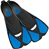 Deep Blue Gear Aqualine Short Fins for Snorkeling, Swimming, and Diving