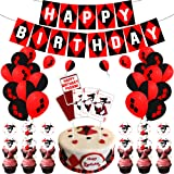 JUZIPI Harley Quinn Birthday Party Decorations Supply Accessories Bunting Banner Balloon Cute and Lovely Birthday Decorations