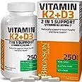 Vitamin K2 (MK7) with D3 Supplement - Bone and Heart Health Non GMO Formula - 5000 IU Vitamin D3 & 90 mcg Vitamin K2 MK-7 - E