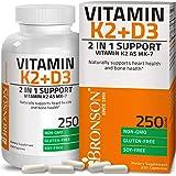 Vitamin K2 (MK7) with D3 Supplement Bone and Heart Health Non-GMO Formula 5000 IU Vitamin D3 & 90 mcg Vitamin K2 MK-7 Easy to