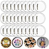 30 Pcs 2.36'' Pin Button Badge Acrylic Clear Pin Buttons Blank Badge Making Kit Acrylic Badge Maker for Craft DIY Kids' Paper