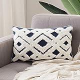 MIULEE Decorative Throw Pillow Cover Tribal Boho Woven Tufted Pillowcase Super Soft Delicate Elegant Pillow Sham Cushion Case