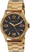 CARAVELLE Men's 44B120 Analog Quartz Gold Watch