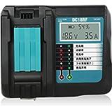 Gakkiti マキタ 充電器 DC18RF 14.4V-18V 用 互換品 14.4V/18Vリチウムイオンバッテリー用 USB端子 搭載 スマホ等 充電用USBポート付 スマホ 充電可能 マキタ 電池 BL1430 BL1440 BL1450 B