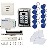 Metal Weatherproof Access Control System( Only for 125KHz HID Card )600LBS Force Electric Magnetic Lock +110VPower Supply+Exi