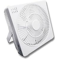 トップランド DCモーター搭載 18cm デスクファン どこでもファン (風量4段階) タイマー付 充電専用USBポート…