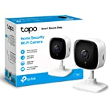 TP-LINK Tapo Mini Smart Security Camera, Indoor CCTV, Compatible with Alexa&Google Home, No Hub Required, 1080p, 2-Way Audio,