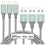 iPhone Charger Cable MFi Certified Lightning Cord 3Pack 6ft USB Fast Charging Syncing Cable Nylon Braided iPhone 12 SE 11 Pro