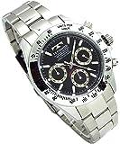 TECHNOS テクノス メンズ腕時計 クロノグラフ ブラックダイヤル 工具ブレスセット TSM401SB-SET [並…