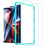 ESR (2-Pack) Glass Screen Protector for iPad Pro 12.9 [Face ID Compatible] [Free Installation Frame] 9H-Hard HD Clear Tempere