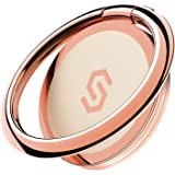 Syncwire スマホリング 携帯リング 薄型 360°回転 落下防止 指輪型 スタンド機能 ホールドリング フィンガーリング iPhone/Android各種他対応-ローズゴールド