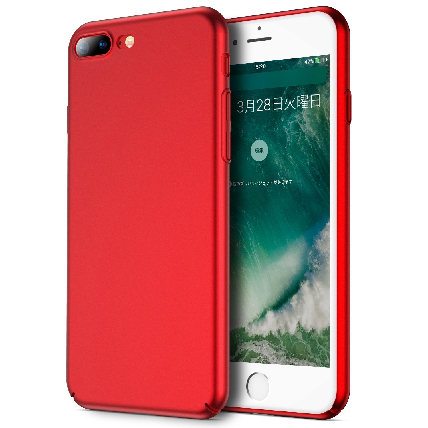 VANMASS iPhone 8 Plus ケース iPhone 7 Plus Red