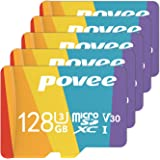 5 Pack of 128GB MicroSD Card with Adapter,U3 A1 MicroSDXC Card 667X High Speed Up to 100MB/s UHS-I Micro SD 128 GB UHS-1 Memo