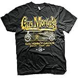 Gas Monkey Garage Officially Licensed GMG - Green Hot Rod Mens T-Shirt (Black)
