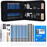 Graphite Drawing Pencils and Sketch Set, 33 PCS Professional Art Drawing Kit with Bag, Art Supplies Includes Charcoal Pencils