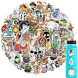 100PCS Miyazaki Hayao Animation Film Theme Anime Stickers, Studio Ghibli Stickers Spirited Away No Face Man My Neighbor Totor