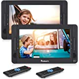 "10.1"" Dual Portable DVD Players for Car, Dual Screen DVD Player with 5-Hour Rechargeable Battery, Support USB/SD/MMC, Play a"