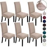 NORTHERN BROTHERS Dining Room Chair Covers Set of 6 Dining Chair Slipcover Stretch Chair Covers Slipcovers for Dining Room Ch