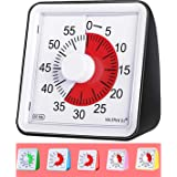 60 Minute Visual Analog Timer-Silent Timer Time Management Tool for Classroom or Meeting Countdown Clock for Kids and Adults