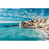 Ingooood- Jigsaw Puzzle 1000 Pieces- European Scenic Series- Italy Waterside Town_IG-0375 Entertainment Toys for Adult Specia