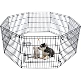 PEEKABOO Dog Pen Pet Playpen Dog Fence Indoor Foldable Metal Wire Exercise Pen Puppy Play Yard Pet Enclosure Outdoor for Smal