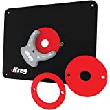 Kreg Tool Precision Router Table Insert Plate w/ Level-Loc Rings (Non predrilled) (PRS4038)