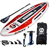 """NIXY Newport Paddle Board All Around Inflatable SUP 10'6"""" x 33"""" x 6"""" Ultra-Light Stand Up Paddleboard Built with Dual Layer D"""