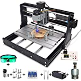 CNC Machine, MYSWEETY DIY CNC 3018-PRO 3 Axis CNC Router Kit with 5500mW 5.5W Module + PCB Milling, Wood Carving Engraving Ma