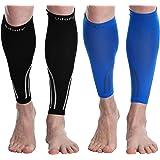Udaily Calf Compression Sleeves for Men & Women (20-30mmhg) - Calf Support Leg Compression Socks for Shin Splint & Calf Pain