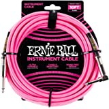 Ernie Ball P06078 Ernie Ball 3 Meters Braided Straight/Angle Instrument Cable, Neon Pink, Neon Pink, 3 Meters
