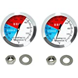 """DOZYANT 2"""" 550F(2 pack) BBQ Barbecue Charcoal Grill Pit Wood Smoker Temp Gauge Grill Thermometer 2.5"""" Stem Stainless Steel RW"""