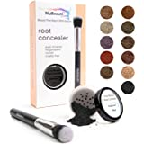 Root Concealer Touch Up Powder | All-Natural Crushed Minerals With Brush | Fast and Easy Total Gray Hair Cover up For Black |