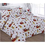 Luxurious Festive Snowdon Reindeer Rudolph Merry Christmas Printed Duvet Cover Pillow Case Set Noel Super King