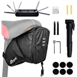 WOTOW Bike Tyre Repair Kits, Waterproof Bicycle Saddle Bag & 120 Psi Mini Pump & 7 in 1 Multifunctional Bike Tyre Lever & Sel