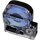 キングジム テープカートリッジ テプラPRO キレイにはがせるラベル 12mm 青 SC12BE