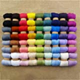 Jinbs 羊毛フェルト ウールキャンディ 36色セット 各色3g ウールフェルト カラフル もこもこ 手作り DIY素材 フェルトキット