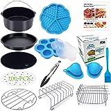 Eco Moda 8 inch XL Air Fryer Accessories 12 pcs with Recipe Cookbook Compatible with Ninja Foodi 5&6.5qt (OP101,OP301,OP302)