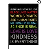pingpi in This House, We Believe Small Garden Flag Vertical Double Sided 12.5 x 18 Inch Burlap Yard Outdoor Decor
