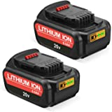 SURTOP 20V 6.0Ah DCB205 Replacement Battery Compatible with Dewalt 20V Max XR DCB205 DCB204 DCB206 DCB205-2 DCB200-2 DCB180 D
