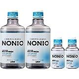【Amazon.co.jp限定】 NONIO(ノニオ) [医薬部外品] マウスウォッシュ クリアハーブミント 洗口液 600ml×2個ミニリンス80ml×2個