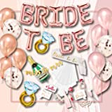 S2 Shoppe Bachelorette Party Decorations Kit | Bridal Shower | Bride to Be Sash, Veil, Champagne, Ring Foil Balloon, Rose Pea