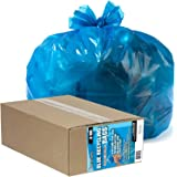 "Aluf Plastics AM RECYCLING BLUE Heavy Duty Large Blue Recycling Bags by Ultrasac - 33 Gallon (GIANT 50 Pack /w ties) 33"" x 38"