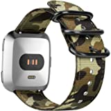 Fintie for Fitbit Versa 2 / Versa/Versa Lite Edition Bands, Soft Nylon Strap Wristband Accessories Compatible with Fitbit Ver