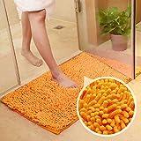 MAXYOYO Orange Bath Rugs Bathroom Mats and Rugs Non Slip Ultra Soft Chenille Rug/Bathmat/Toilet Mat/Toilet Rug/Shower Rug Was