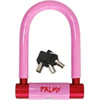 PALMY(パルミー) アルミシャックルロック(ピンク/レッド) YD-4418