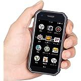 頑丈なミニスマートフォン 4G対応 デュアルSIMカード 超小型 3インチ サイズ Android 6.0 スマートフォン 防塵 防水 タフネス設計 指紋認証 顔認証 (黒)